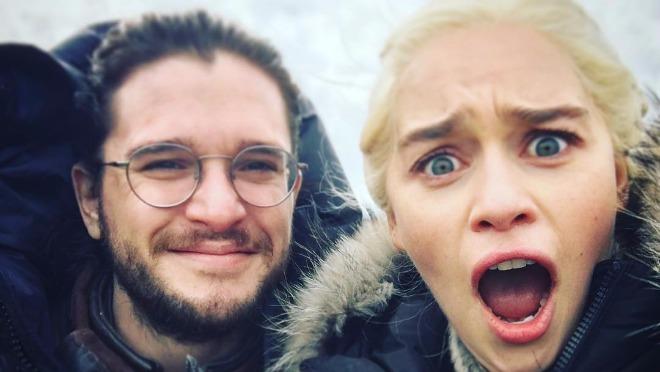 Game of Thrones Emilia Clarke Kit Harington