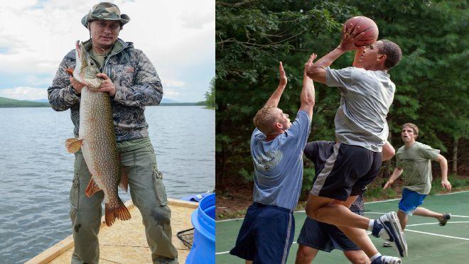 Obama na basketu, Angela na bazenu, Putin na pecanju