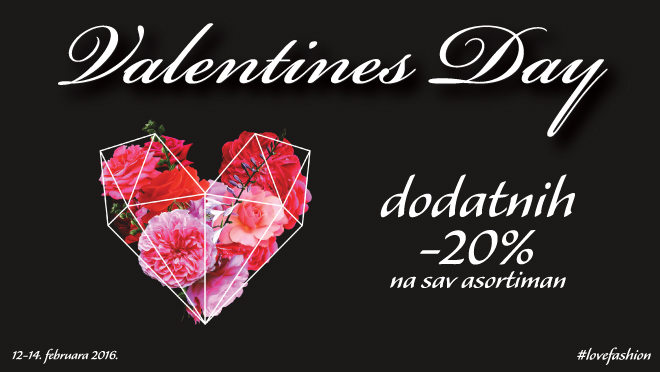 Valentine's Day u Fashion company radnjama