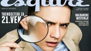 HOLIVUDSKO LICE SRPSKOG FILMA: Slaven Došlo na naslovnoj strani novog Esquirea!