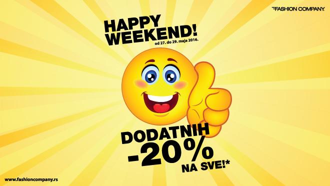 Happy Weekend u prodavnicama Fashion Company