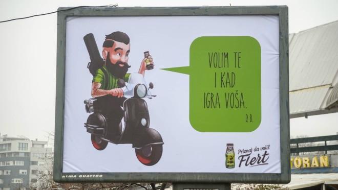 Flert na bilbordima širom Srbije